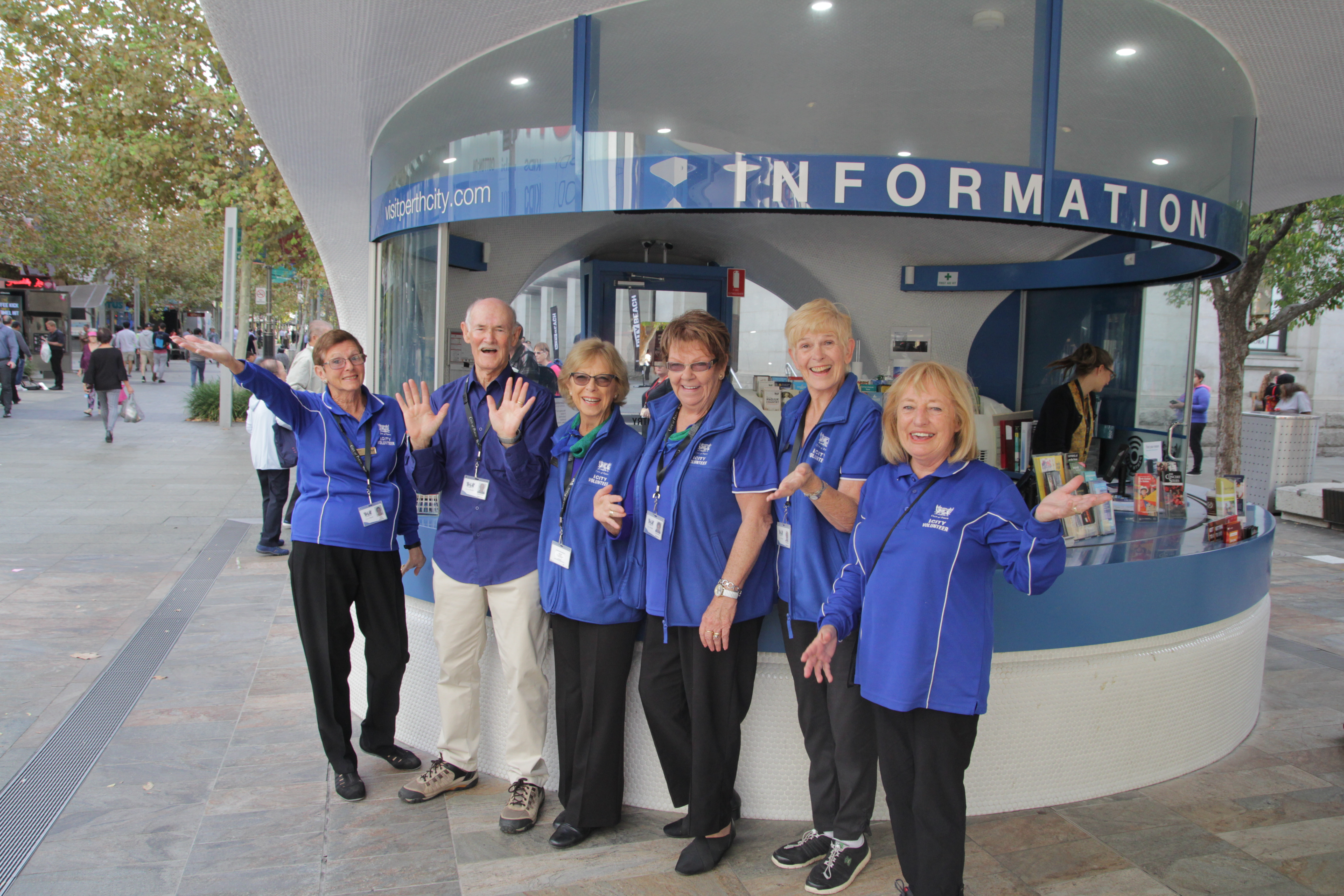 Volunteers at City of Perth's iCity Information Kiosk