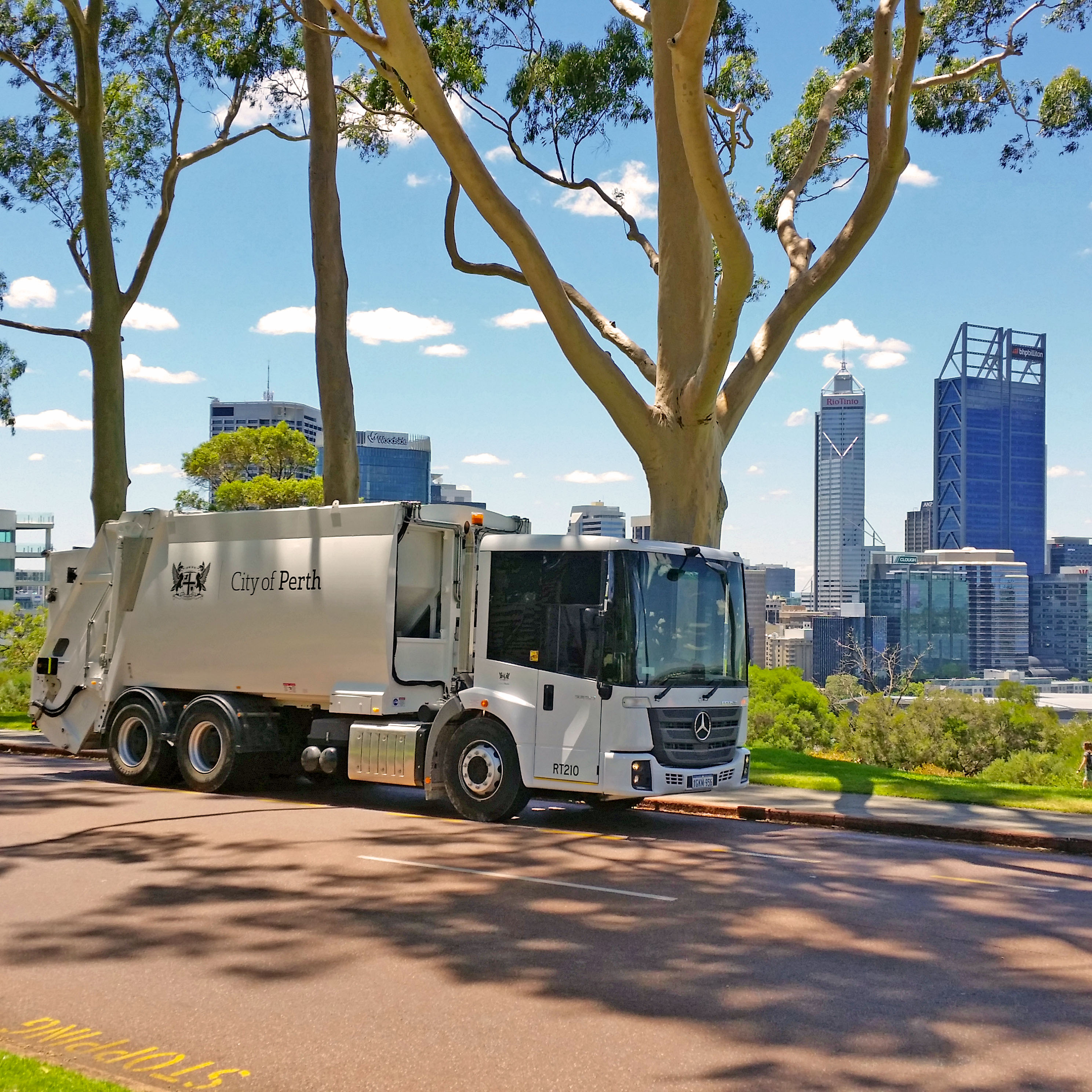 City of Perth recycled waste truck