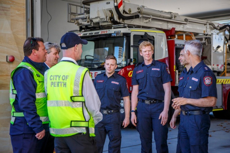 City of Perth and emergency services staff