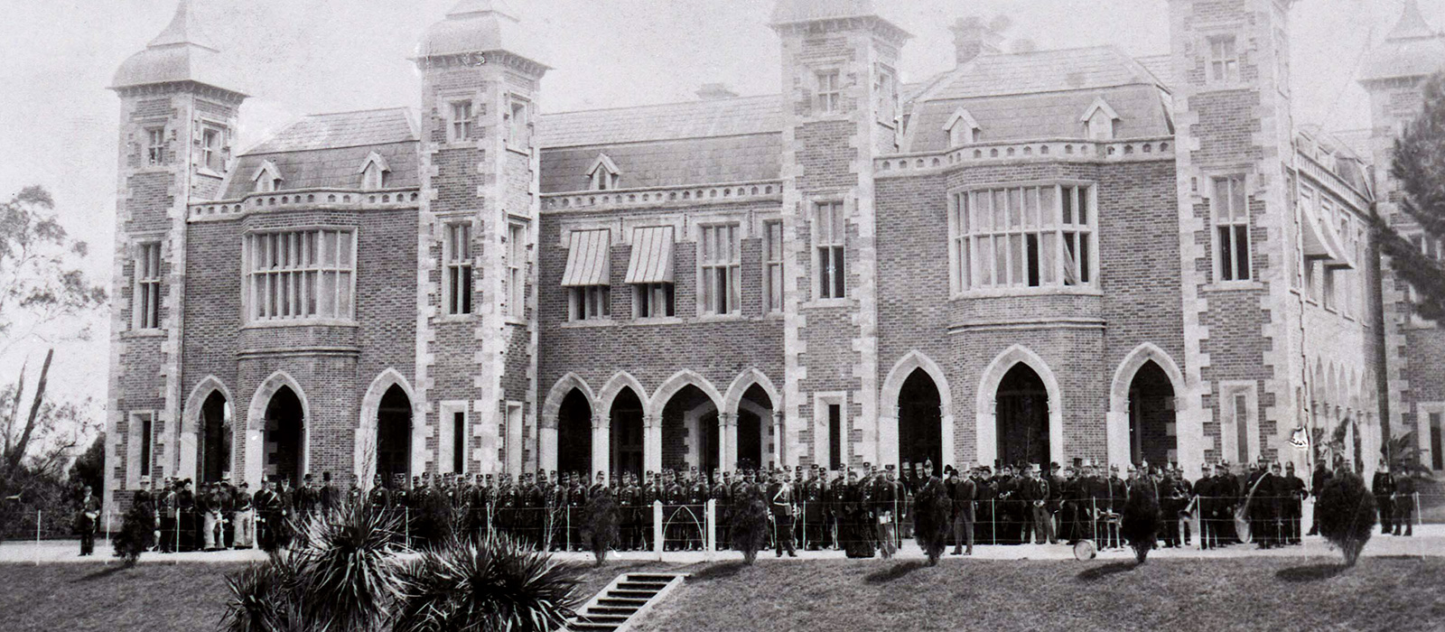 Pensioner Guards outside Government House